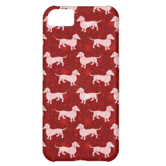 Christmas Snowflake Dachshunds Red Cover For iPhone 5C