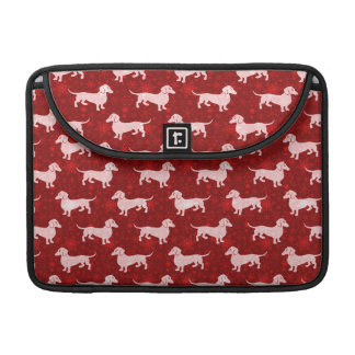 Christmas Snowflake Dachshunds Red Sleeve For MacBook Pro