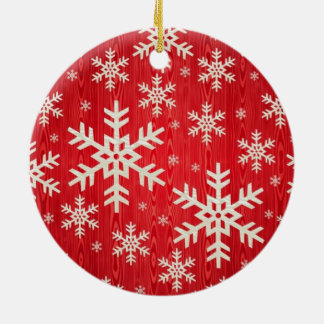 Christmas Snowflake Design Ceramic Ornament
