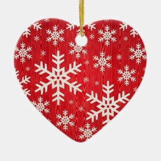 Christmas Snowflake Design Ceramic Ornament