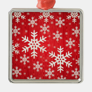 Christmas Snowflake Design Metal Ornament