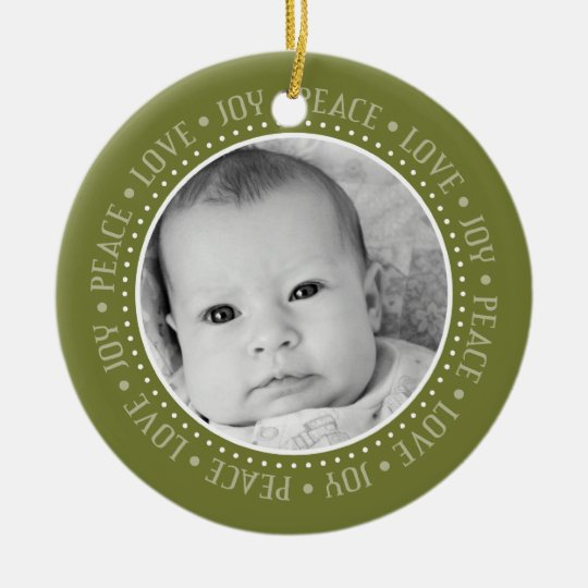 Christmas Snowflake: Double-Sided Photo Ceramic Ornament