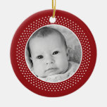 Christmas Snowflake: Double-Sided Photo Double-Sided Ceramic Round Christmas Ornament