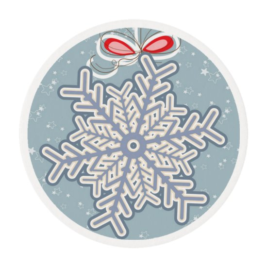 Christmas Snowflake -Edible Frosting Edible Frosting Rounds