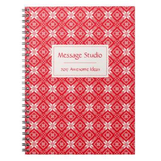 Christmas Snowflake Faire Isle/ Jacquard Monogram Notebook
