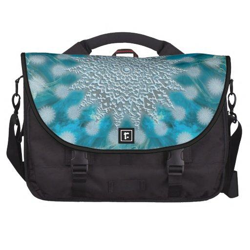 Christmas Snowflake Fractal Art Commuter Bags