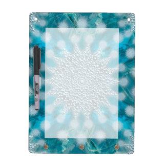 Christmas Snowflake Fractal Art Dry Erase Board