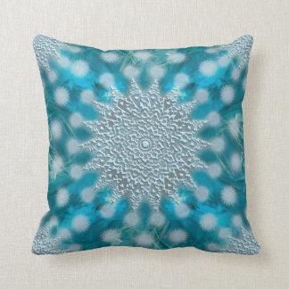 Christmas Snowflake Fractal Art Throw Pillow