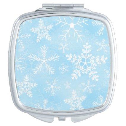 Christmas Snowflake Fractal Art Vanity Mirror