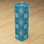 Christmas Snowflake Fractal Art Wine Bottle Boxes