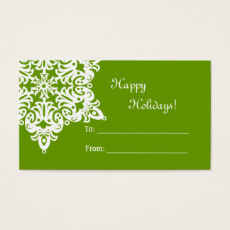 Christmas Snowflake Gift Tag