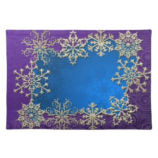 Christmas Snowflake Holiday Place Mat