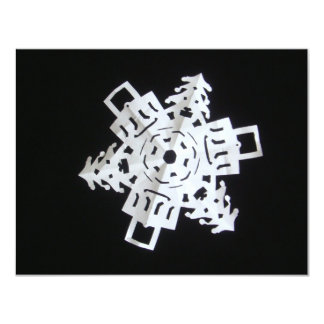 Christmas Snowflake 4.25x5.5 Paper Invitation Card