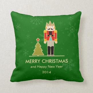 Christmas Snowflake - Nutcracker Holiday Greeting Throw Pillows