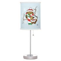 Christmas Snowflake Owl Table Lamp