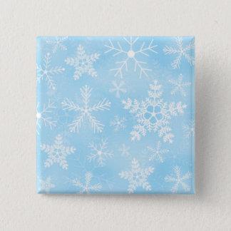 Christmas Snowflake Pattern Button