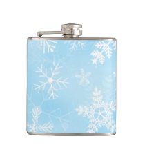 Christmas Snowflake Pattern Flask
