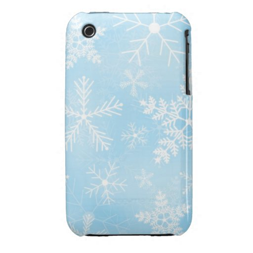 Christmas Snowflake Pattern iPhone 3 Cases