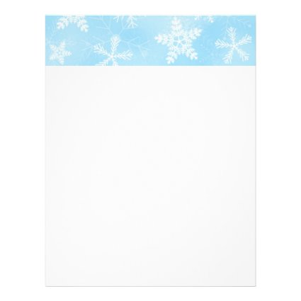 Christmas Snowflake Pattern Personalized Letterhead