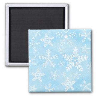 Christmas Snowflake Pattern 2 Inch Square Magnet