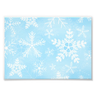 Christmas Snowflake Pattern Photo Print
