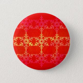Christmas snowflake pattern pinback button