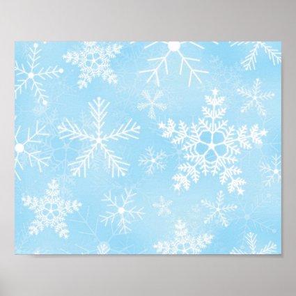 Christmas Snowflake Pattern Print