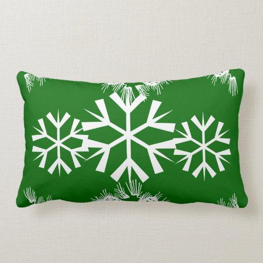 Christmas snowflake pine cones lumbar pillow