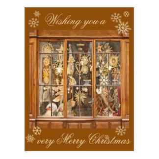 Christmas Snowflake Postcard--French Store Window Postcard
