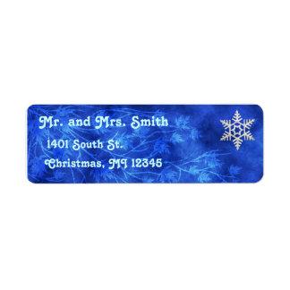 Christmas Snowflake Return Address Label