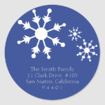Christmas Snowflake Return Address Labels Stickers