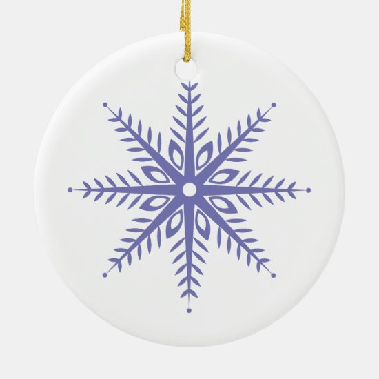 Christmas Snowflake Round Ornament