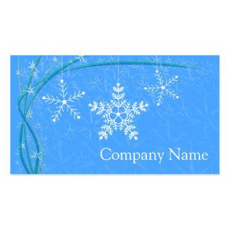 Christmas Snowflake Stars Business Card