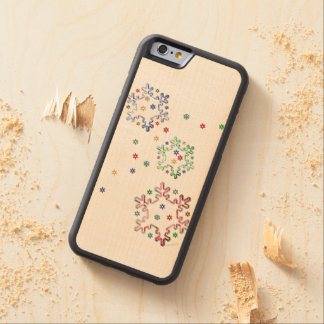 Christmas Snowflake Stars iPhone 6/6s Carved Maple iPhone 6 Bumper Case