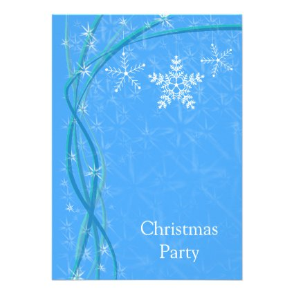 Christmas Snowflake Stars Personalized Invitations