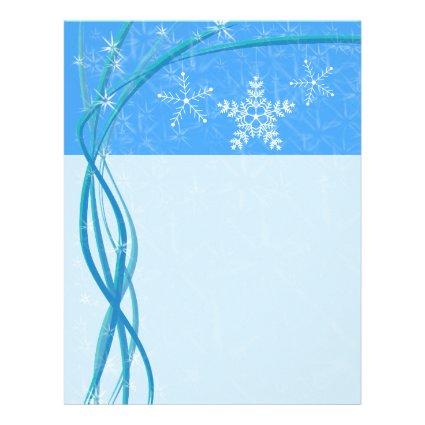 Christmas Snowflake Stars Personalized Letterhead
