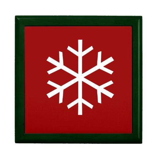 Christmas Snowflake Trinket Boxes