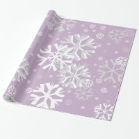Christmas Snowflake Wrapping Paper-Lavender Wrapping Paper