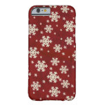 Christmas Snowflakes Barely There iPhone 6 Case