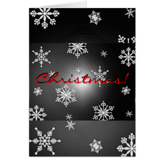 Christmas Snowflakes Black And Grey In English Greeting Card