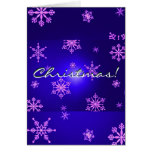 Christmas Snowflakes Blue In English Card