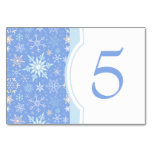 Christmas Snowflakes Dinner Party Table Number Table Cards