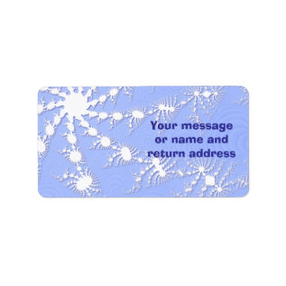 Christmas Snowflakes Gift Tag Or Address Labels at Zazzle