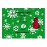 Christmas snowflakes glitter cardinal business card templates