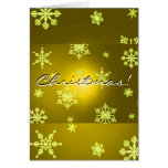 Christmas Snowflakes Gold In English Card