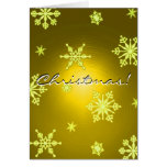 Christmas Snowflakes Gold In English I Greeting Cards