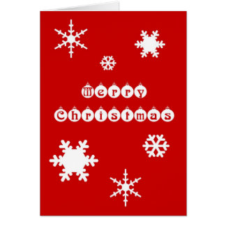 Christmas Snowflakes Greeting Cards