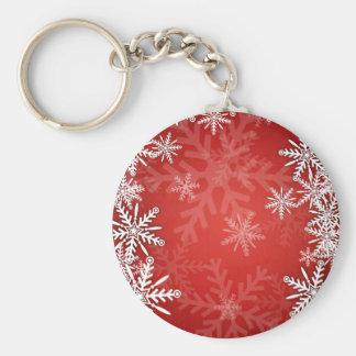 Christmas snowflakes keychains