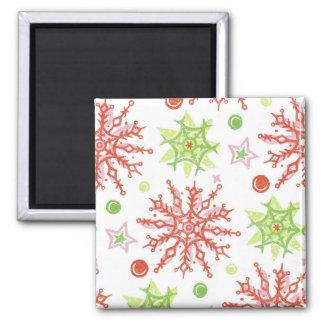 Christmas Snowflakes Magnet