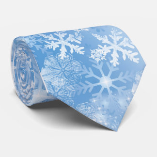 Christmas Snowflakes Men's Tie